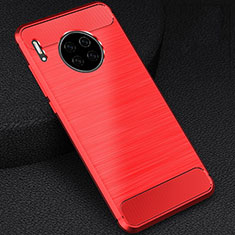 Silicone Candy Rubber TPU Line Soft Case Cover C02 for Huawei Mate 30E Pro 5G Red
