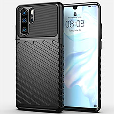 Silicone Candy Rubber TPU Line Soft Case Cover C03 for Huawei P30 Pro Black