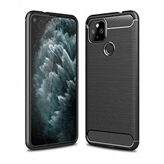 Silicone Candy Rubber TPU Line Soft Case Cover for Google Pixel 4a 5G Black