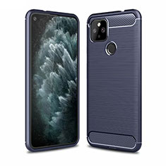 Silicone Candy Rubber TPU Line Soft Case Cover for Google Pixel 4a 5G Blue