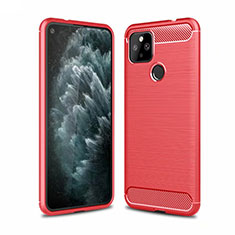Silicone Candy Rubber TPU Line Soft Case Cover for Google Pixel 4a 5G Red