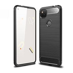 Silicone Candy Rubber TPU Line Soft Case Cover for Google Pixel 4a Black