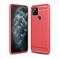 Silicone Candy Rubber TPU Line Soft Case Cover for Google Pixel 5 Red