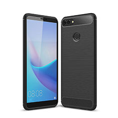 Silicone Candy Rubber TPU Line Soft Case Cover for Huawei Enjoy 8 Plus Black