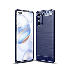 Silicone Candy Rubber TPU Line Soft Case Cover for Huawei Honor 30 Pro Blue