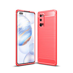 Silicone Candy Rubber TPU Line Soft Case Cover for Huawei Honor 30 Pro Red
