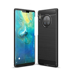 Silicone Candy Rubber TPU Line Soft Case Cover for Huawei Mate 30 Pro 5G Black