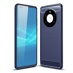 Silicone Candy Rubber TPU Line Soft Case Cover for Huawei Mate 40 Pro+ Plus Blue