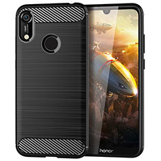 Silicone Candy Rubber TPU Line Soft Case Cover for Huawei Y6 (2019) Black