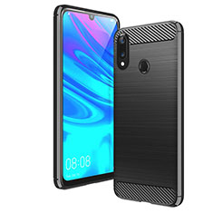Silicone Candy Rubber TPU Line Soft Case Cover for Huawei Y7 Pro (2019) Black