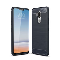 Silicone Candy Rubber TPU Line Soft Case Cover for LG G7 Blue