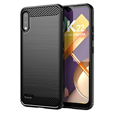 Silicone Candy Rubber TPU Line Soft Case Cover for LG K22 Black