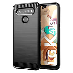 Silicone Candy Rubber TPU Line Soft Case Cover for LG K41S Black
