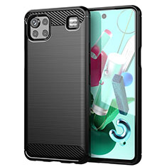Silicone Candy Rubber TPU Line Soft Case Cover for LG K92 5G Black