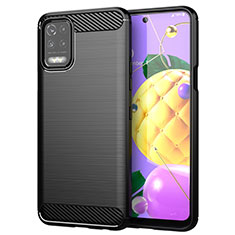 Silicone Candy Rubber TPU Line Soft Case Cover for LG Q52 Black