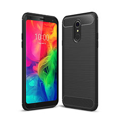 Silicone Candy Rubber TPU Line Soft Case Cover for LG Q7 Black