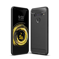 Silicone Candy Rubber TPU Line Soft Case Cover for LG V50 ThinQ 5G Black