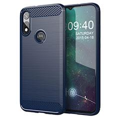 Silicone Candy Rubber TPU Line Soft Case Cover for Motorola Moto E (2020) Blue