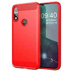 Silicone Candy Rubber TPU Line Soft Case Cover for Motorola Moto E (2020) Red