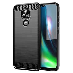 Silicone Candy Rubber TPU Line Soft Case Cover for Motorola Moto E7 Plus Black