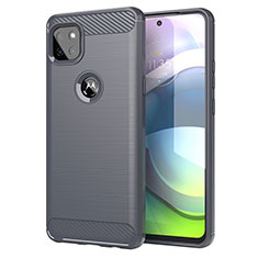 Silicone Candy Rubber TPU Line Soft Case Cover for Motorola Moto G 5G Gray