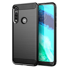 Silicone Candy Rubber TPU Line Soft Case Cover for Motorola Moto G Fast Black