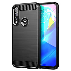 Silicone Candy Rubber TPU Line Soft Case Cover for Motorola Moto G Power Black