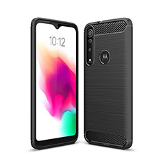 Silicone Candy Rubber TPU Line Soft Case Cover for Motorola Moto G8 Play Black