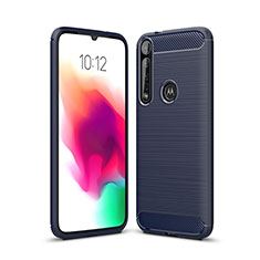 Silicone Candy Rubber TPU Line Soft Case Cover for Motorola Moto G8 Plus Blue