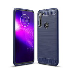 Silicone Candy Rubber TPU Line Soft Case Cover for Motorola Moto G8 Power Blue