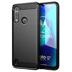 Silicone Candy Rubber TPU Line Soft Case Cover for Motorola Moto G8 Power Lite Black
