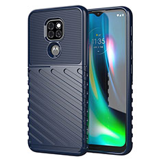 Silicone Candy Rubber TPU Line Soft Case Cover for Motorola Moto G9 Blue