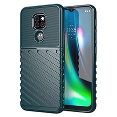 Silicone Candy Rubber TPU Line Soft Case Cover for Motorola Moto G9 Green