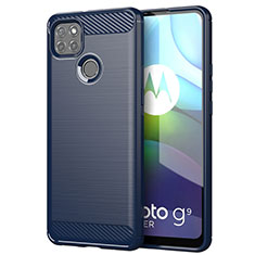 Silicone Candy Rubber TPU Line Soft Case Cover for Motorola Moto G9 Power Blue