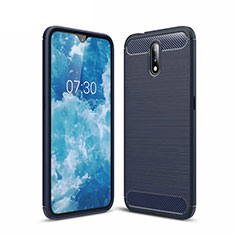 Silicone Candy Rubber TPU Line Soft Case Cover for Nokia 2.3 Blue