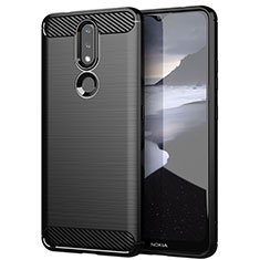 Silicone Candy Rubber TPU Line Soft Case Cover for Nokia 2.4 Black