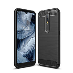 Silicone Candy Rubber TPU Line Soft Case Cover for Nokia 4.2 Black