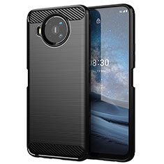 Silicone Candy Rubber TPU Line Soft Case Cover for Nokia 8.3 5G Black