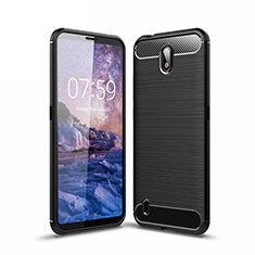 Silicone Candy Rubber TPU Line Soft Case Cover for Nokia C1 Black