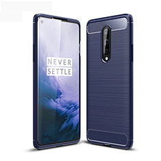 Silicone Candy Rubber TPU Line Soft Case Cover for OnePlus 8 Blue