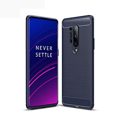 Silicone Candy Rubber TPU Line Soft Case Cover for OnePlus 8 Pro Blue