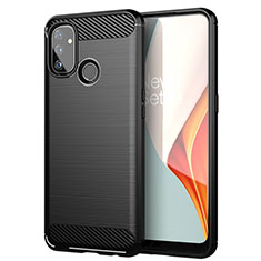 Silicone Candy Rubber TPU Line Soft Case Cover for OnePlus Nord N100 Black