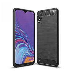Silicone Candy Rubber TPU Line Soft Case Cover for Samsung Galaxy A10 Black