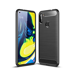 Silicone Candy Rubber TPU Line Soft Case Cover for Samsung Galaxy A11 Black
