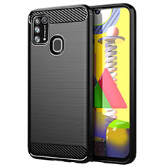 Silicone Candy Rubber TPU Line Soft Case Cover for Samsung Galaxy M31 Black