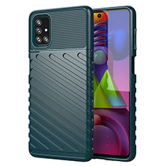 Silicone Candy Rubber TPU Line Soft Case Cover for Samsung Galaxy M51 Green