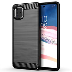 Silicone Candy Rubber TPU Line Soft Case Cover for Samsung Galaxy M60s Black
