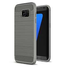 Silicone Candy Rubber TPU Line Soft Case Cover for Samsung Galaxy S7 Edge G935F Gray