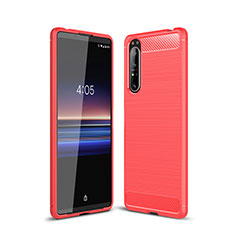 Silicone Candy Rubber TPU Line Soft Case Cover for Sony Xperia 1 II Red