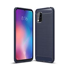 Silicone Candy Rubber TPU Line Soft Case Cover for Xiaomi Mi 10 Lite Blue